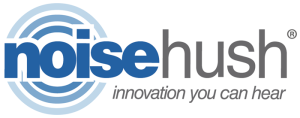 noisehush logo with tagline
