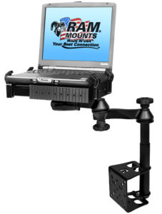 Jotto Desk RAM Tough-Tray mobile laptop mount available at Aidrow for purchase and installation.